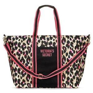 Victoria's Secret Leopard Weekender Tote Bag NWT